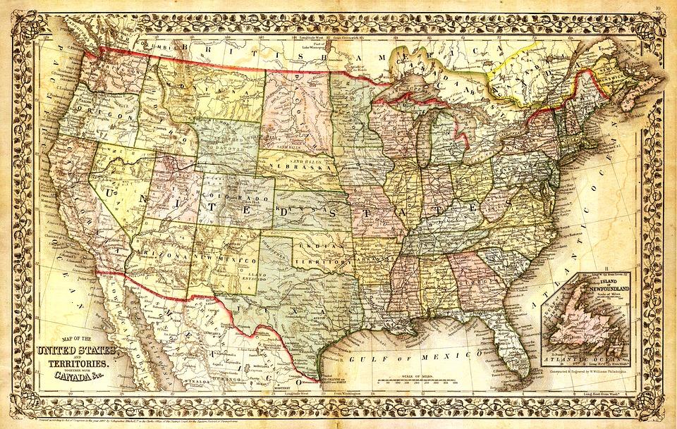 americká mapa
