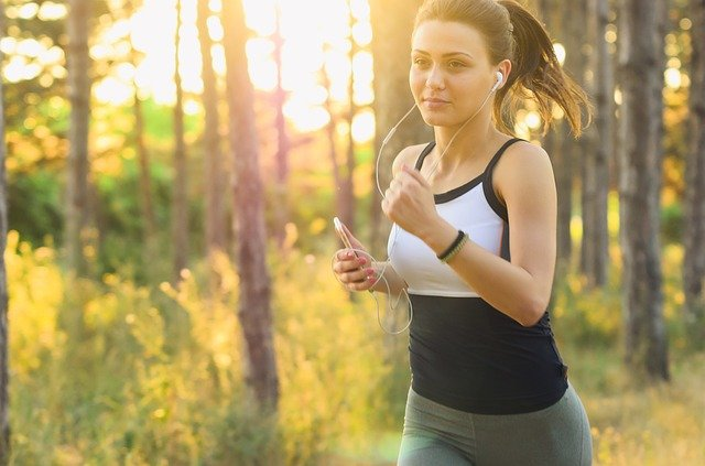 kondiční běh dívky