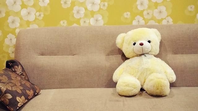 žlutý medvídek