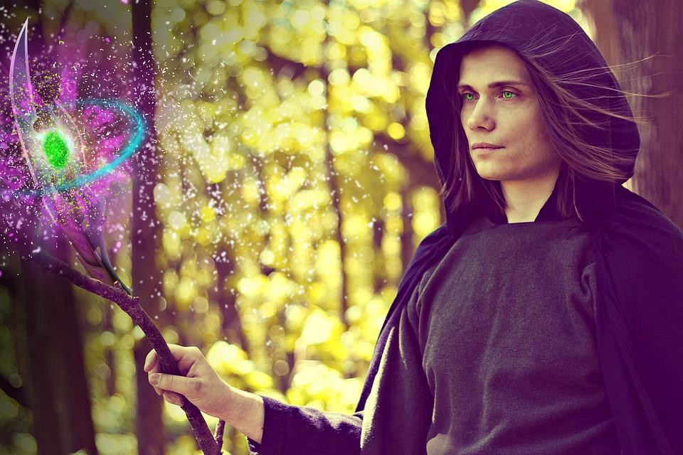 kouzelník s hůlkou